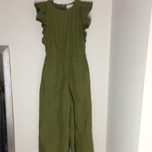 J.O.A Los Angeles olive green jumpsuit